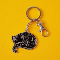 Mystical Cat Keyring