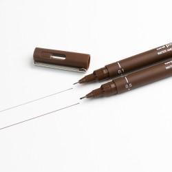Sepia fine-line graphic pens