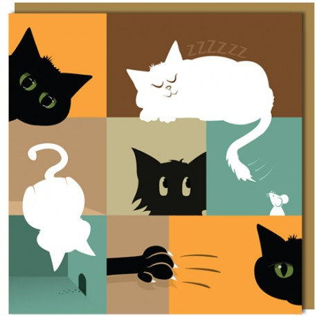 Greeting Card - Cats