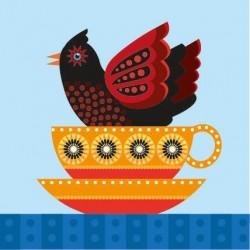 Tea Cup Bird - Print